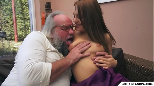 a brunette for the horny grandpa Thumb