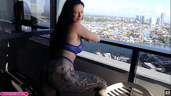 BIG TIT BIG Thick ASS Anal MILF Gets Horny Looking At Her Balcony View So She Wants To Get Fucked In The ASS Hard Until He Cums In Her Anal - Melody Radford Thumb