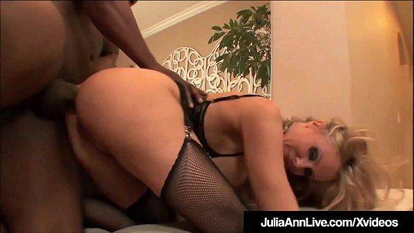 Milf Julia Ann Anal Fucked & Facialed By 4 Big Black Cocks! Thumb