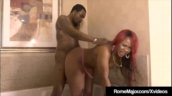 Black Knight Rome Major Pussy Plows Ebony Gemini Lovell!