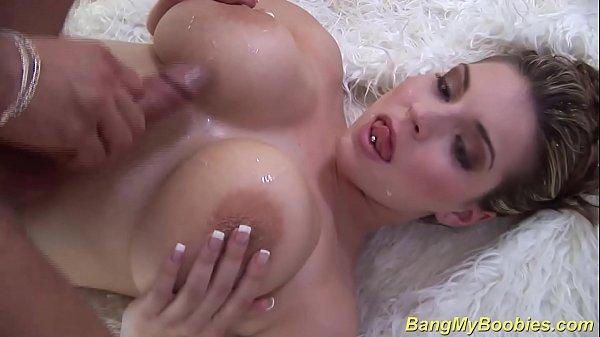 sexy milf gives big boob titfuck