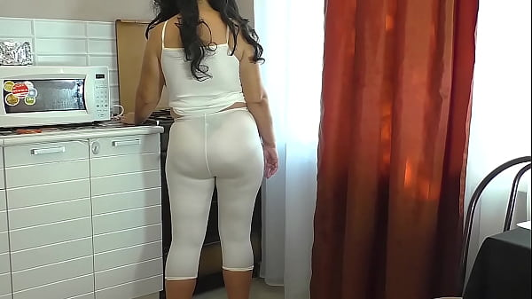 Anal sex mom and stepson at home in the kitchen