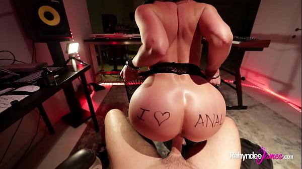 Rahyndee as groupie cum slut sucks and anal fucks rockstar cock Thumb