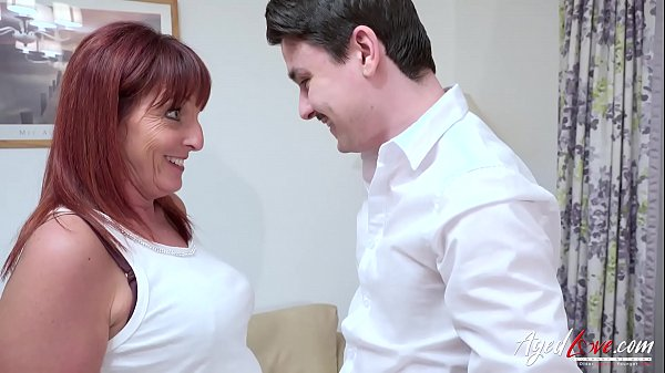 AgedLovE Mature Lady Riding Youngster Cock Hard Thumb