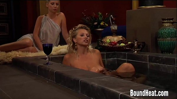 Busty Lesbian Madame And Big Tit Slaves In Orgy Thumb