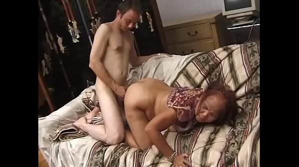 Man lifts Sarah leg high in the air and fucks her in a doggy style position