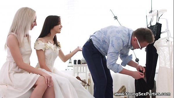Young Sex Parties - Dress fitting and a threeway Stefy Shee, Michelle Can Thumb