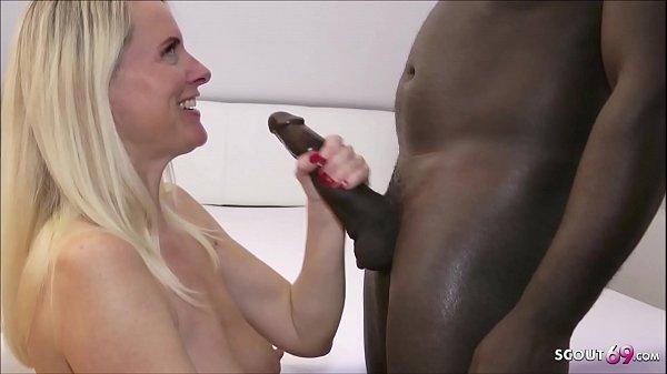 German Milf - Dirty Tina von Schwarzen Monster Schwanz gefickt - Deutsch