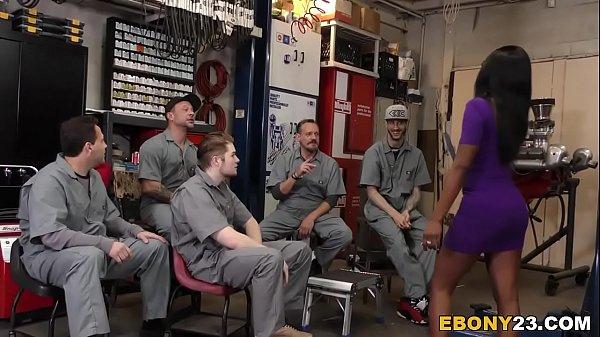 Horny Mechanics Gangbang Ebony Bellah Dahl Thumb