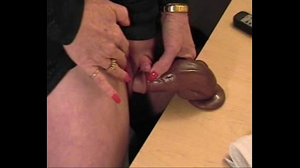 Fisting dildo insertion