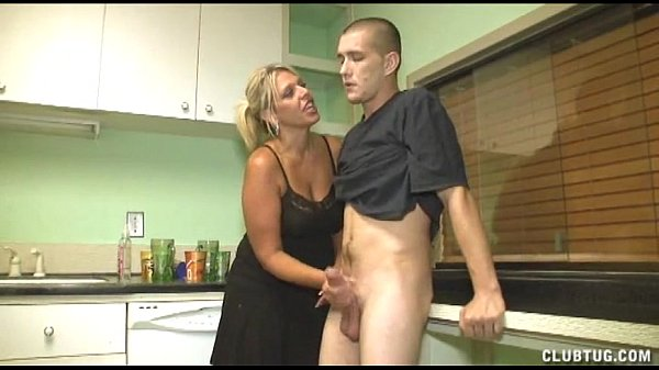 Handjob: Dominant Milf Handjob In The Kitchen