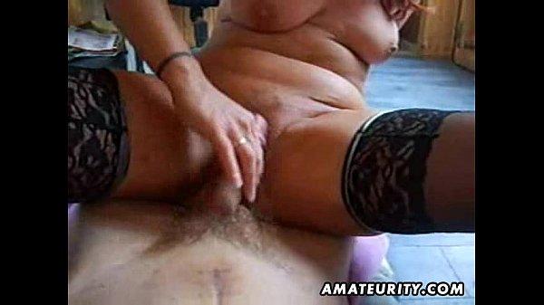 Naughty amateur Milf sucks and fucks with creampie