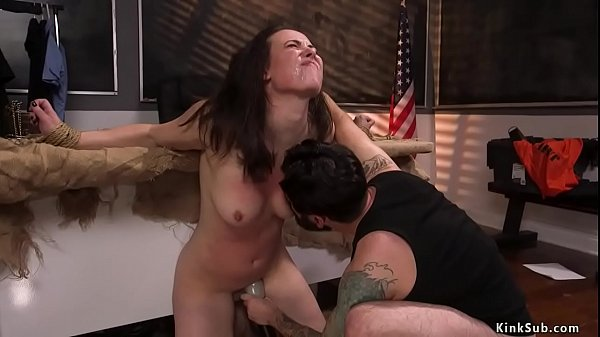 Cop bound and anal fucked clerk