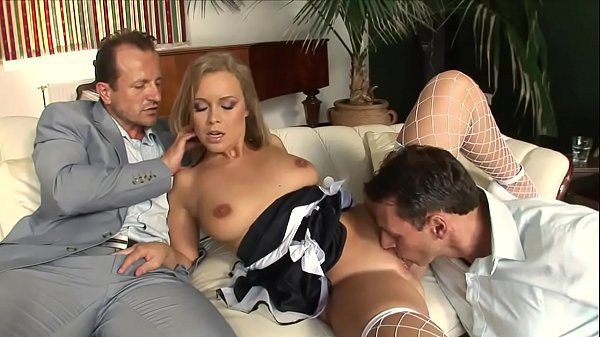 Blonde slut has a cock in mouth & in her cunt too Thumb