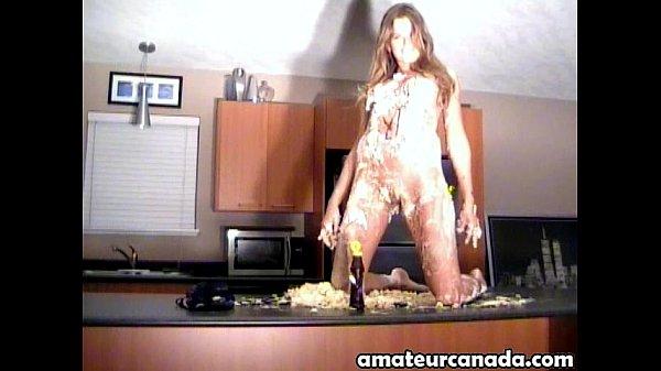 Hot Canadian Amateur Blonde Messy Ashton Cake Party Fun