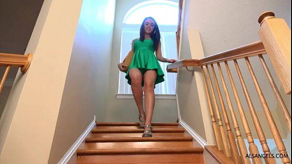 Dillion Harper Sprays All Over The Stairs