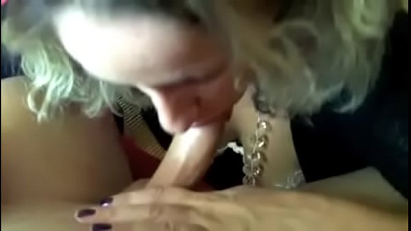Lucia sucks and rubs cock and gets her tits cre...
