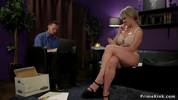 Domme wife fucks guy in front of husband Thumb