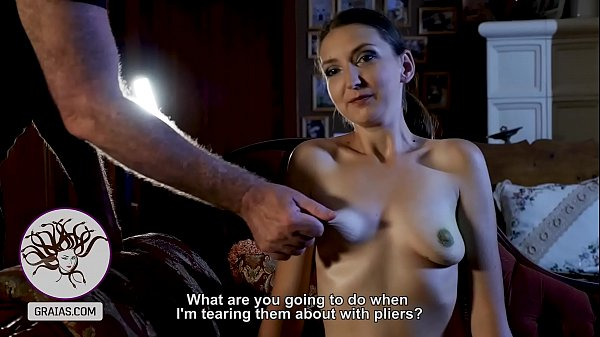 Violent nipple twisting for the disobedient slut Thumb