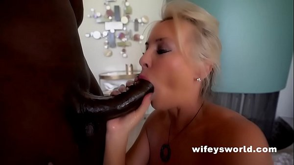 Wife Gives Massive BBC Blowjob And Swallows Cumshot