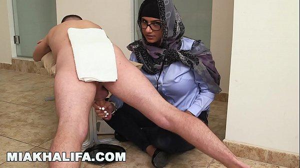 MIA KHALIFA - Your Favorite Arab Pornstar Milking Two Cocks Just For Fun Thumb