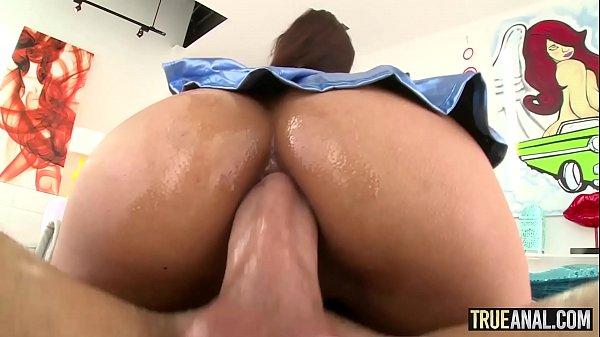 TRUE ANAL Jade Jantzen Swallows An Entire Cock With Her Ass