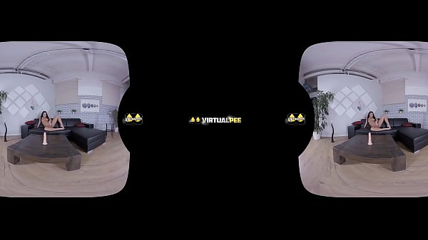 Teen fucks dildo and shoots powerful pee stream on floor - Virtual Porn Thumb
