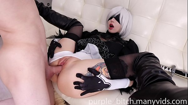 2B ANAL and pussy fuck with Creampie Teen young Amateur Big Ass Doggy Semen Sperm cute girl babe Purple Bitch Suck Dick Thumb