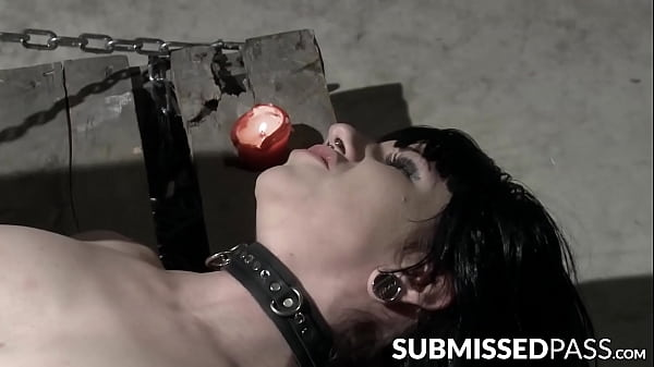 Waxed succubus toyed into submission with plastic cock