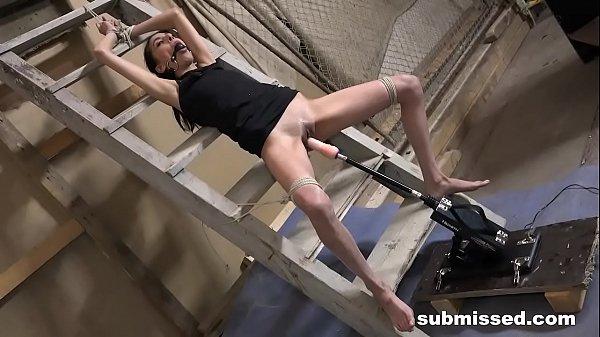 Master restrains Ashley Ocean's Orgasms