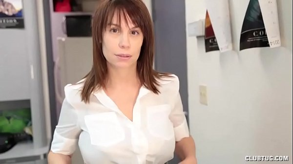 Buxom Milf POV Cum On Tits Handjob For Young Guy