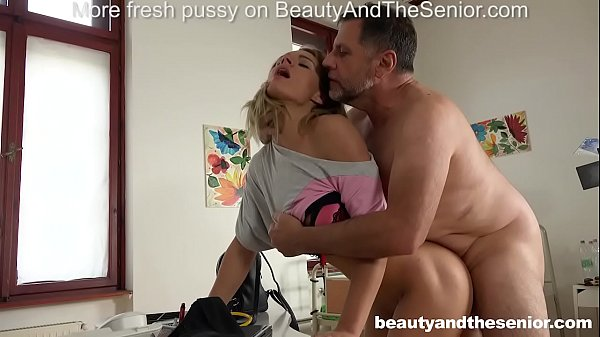 Lara West seduces old doctor Philippe Soine into fucking her hard Thumb