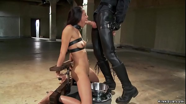 Bound brunette gets torment training Thumb