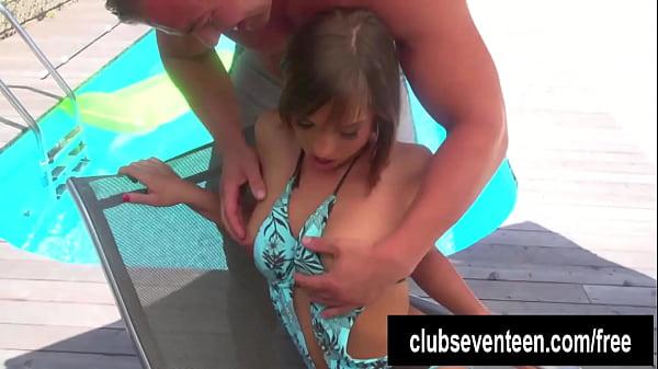 Lusty teen Tina fuck the poolboy