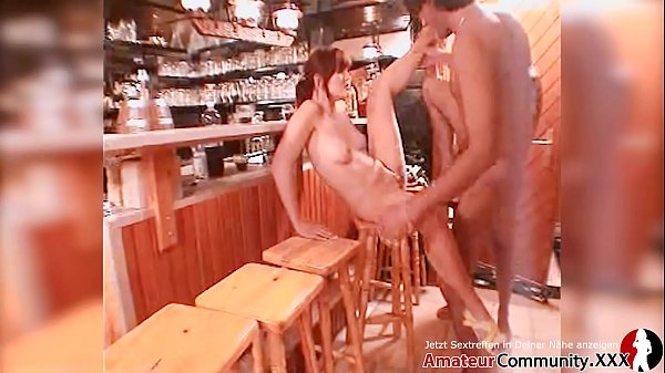 ANAL! Naughty German girl pounded by strangers in bar Thumb