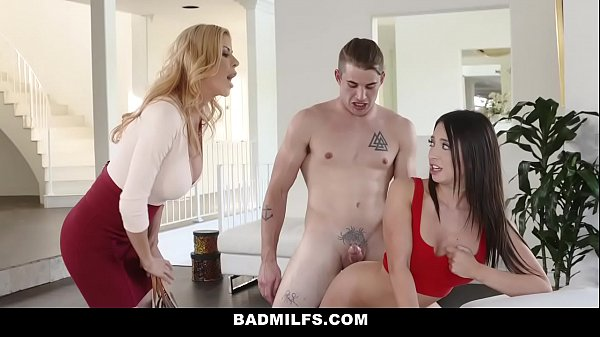 BadMilfs - Hot Professor Seduces Student Into threesome Thumb