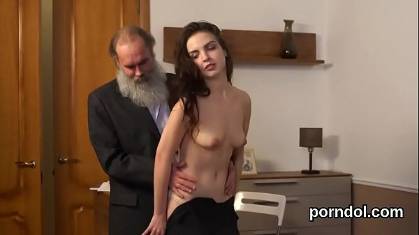 Sweet college girl gets seduced and penetrated by senior tutor