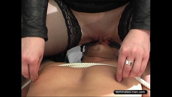 Slave must lick Ass and Pussy clean.