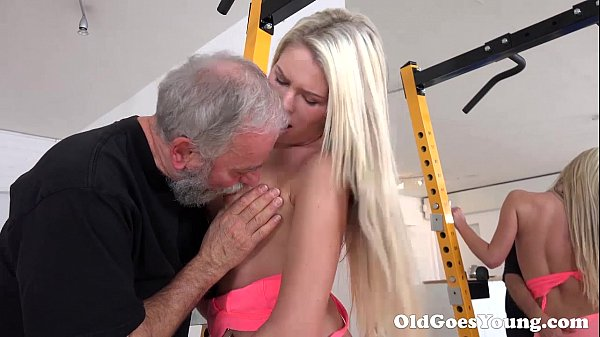 Old Goes Young - Martina loved how this old  sucking her tits Thumb