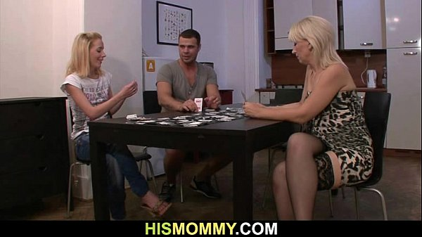 Pussy toying after strip poker with his mom Thumb