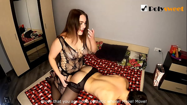 Nice girl wants to be a strapon mistress and fu...