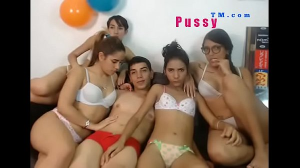 Four Girls Suck One Cock ! Nice GangBang Video !