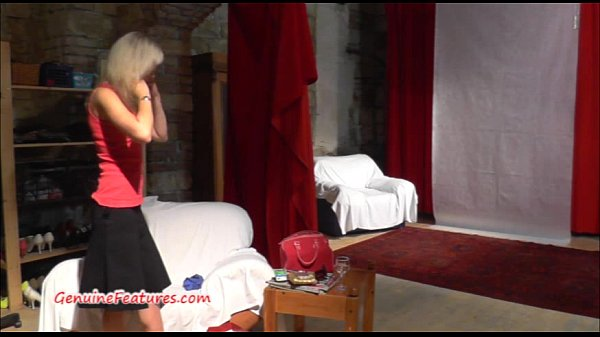Erotic interview and dance with cute casting girl