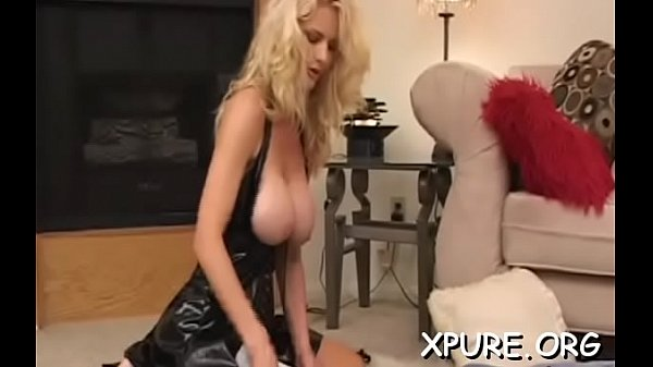 Busty chick sits on his face