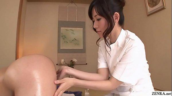 Uncensored JAV wife Manami Komukai CFNM rimjob massage in HD