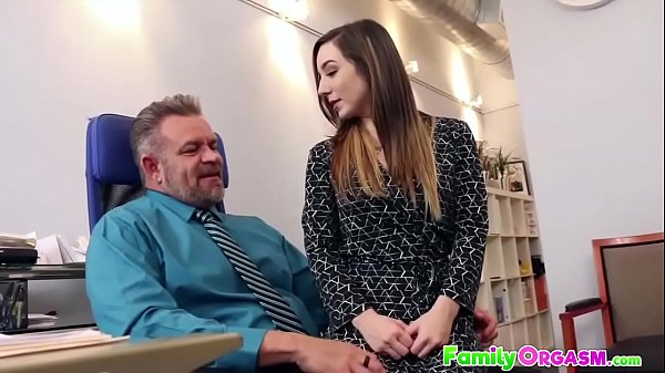 Slutty Daughter Fucking Daddy in Office - FamilyORGASM.com