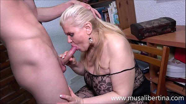 Blowjob and titjob with a mature expert like Musa Libertina Thumb