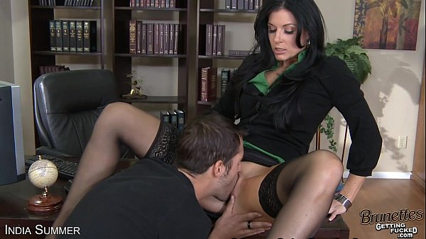 Brunette India Summer fuck a big prick Thumb