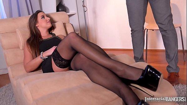 Interracial bangers wanna see secretary Amirah ride big black veiny cock Thumb