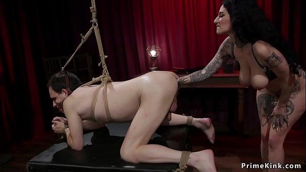 Alt busty mistress destorys ass to male Thumb